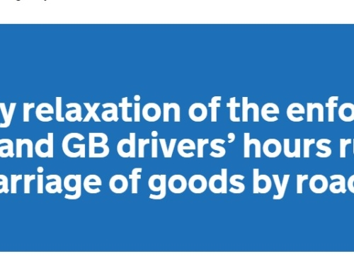 Covid-19 Temporary Relaxation to the Drivers' Hours Rules UPDATE 5 – 7th April 2020